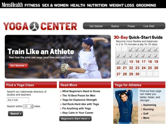 yoga center men's health