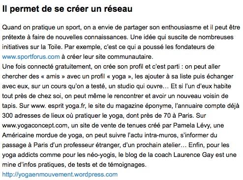 parution Elle nov 2011