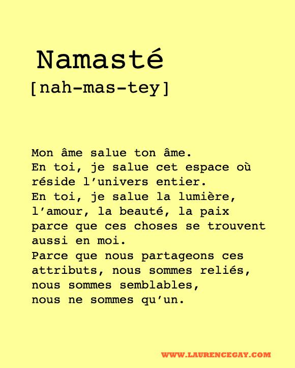 Namaste Ne Veut Pas Dire Merci